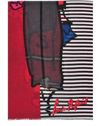 Sonia Rykiel Madam Rykiel Wool and Silk Sketch Stole - Lyst