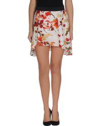 Bb Dakota Mini Skirt - Lyst