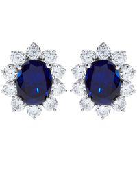 Carat* 2Ct Fancy Oval Sapphire Stud Earrings - Lyst