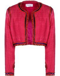 Yves Saint Laurent Rive Gauche Blazer pink - Lyst