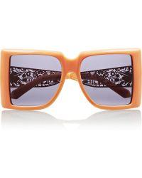 Karen Walker Optimist Squareframe Acetate Sunglasses - Lyst
