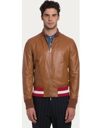 Bally Reversible Leather Jacket - Lyst
