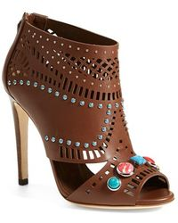 Gucci 'Lika' Stone Detailed Bootie - Lyst