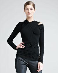 Donna Karan New York Cold-shoulder Jersey Top - Lyst
