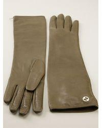 Gucci Green Biker Gloves - Lyst