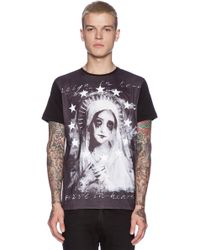 Sons Of Heroes Damaged Goods Crying Mary Baseball Tee black - Lyst