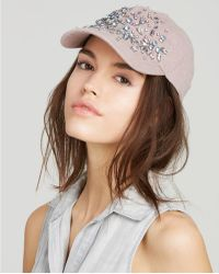 August Accessories - Bejeweled Baseball Cap - Lyst
