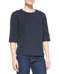 Victoria Beckham Japan Elbow Sleeve Top - Lyst
