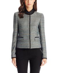 Hugo Boss Jotila  Virgin Wool Blend Woven Jacket - Lyst