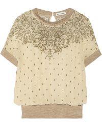 Etoile Isabel Marant Ramsey Printed Silk Top - Lyst