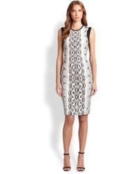 Roberto Cavalli Punto Python-Print Dress - Lyst