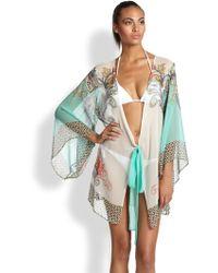 OndadeMar Misty Pearls Silk Kimono - Lyst