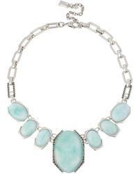 Kenneth Cole - Aqua Glow Amazonite Statement Necklace - Lyst