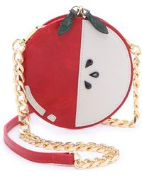 Alice + Olivia Alice Olivia Apple Pouch Cross Body Bag Red - Lyst