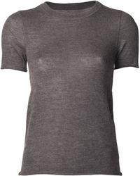 Lucien Pellat Finet - Cashmere Crew Neck T-Shirt - Lyst