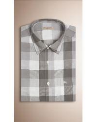 Burberry | Regular Fit Buffalo Check Cotton Shirt | Lyst