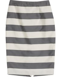 Burberry London Silk-Cotton Striped Skirt - Lyst