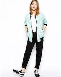 Helene Berman Longline Bomber Jacket in Coco Tweed - Lyst
