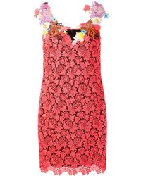 Christopher Kane Embroidered Silk-blend Dress - Lyst