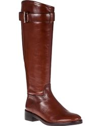 Tory Burch Grace Riding Boot Sienna Leather - Lyst