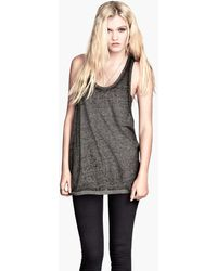 H&M Top with A Burnout Pattern - Lyst