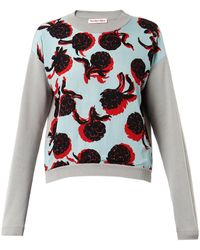 See By Chloé Artichokeprint Cotton Sweatshirt - Lyst
