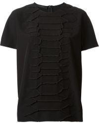 Cedric Charlier Exposed Seams Front Pattern Top - Lyst