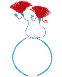 Aurelie Bidermann Necklace blue - Lyst