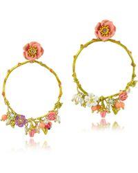 Les Nereides - Love Garden Large Hoop Earrings - Lyst