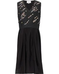 3.1 Phillip Lim Embellished Jacquard Top Silk Dress - Lyst