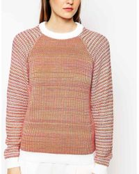 See By Chloé Mixed Yarn Long Sleeve Knit - Lyst