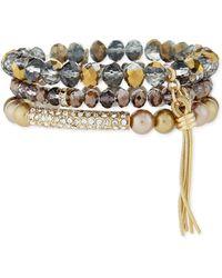 R.j. Graziano - Beaded Stack Bracelet Set - Lyst