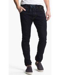 Diesel 'Krooley - Jogg Jeans' Tapered Leg Sweatpants blue - Lyst