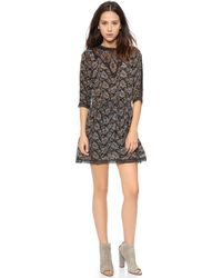 Sea Lace Combo Smocked Dress Black - Lyst