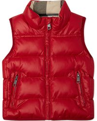 Burberry Quilted Gilet 6-36 Months - Lyst
