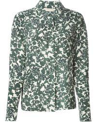 Tory Burch Printed Silk Shirt - Lyst