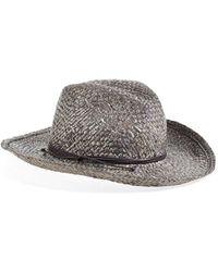 Hinge - Metallic Straw Cowboy Hat - Metallic - Lyst