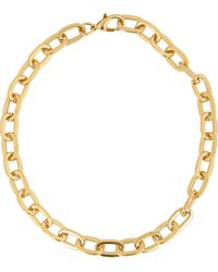 Fallon Gold Shalom Necklace - Lyst