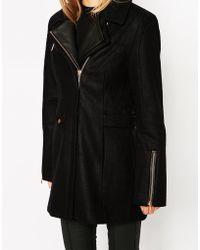 ELEVEN PARIS - Woven Coat With Zip Detail - Lyst