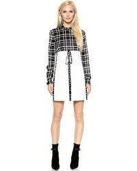 DSquared2 Loco-motion 60s Dress - Blackoff White - Lyst