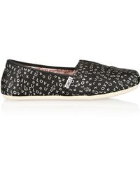 Tabitha Simmons Toms Embroidered Satintwill Slipons - Lyst