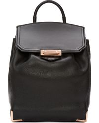 Alexander Wang Black Soft Pebbled Leather Prisma Skeletal Backpack - Lyst