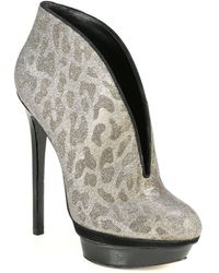 B Brian Atwood - Fortosa Bootie in Leopard Glitter - Lyst