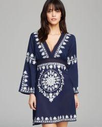 77ebc53b0f Debbie Katz - Soraya Embroidered Cotton Tunic Swim Cover Up - Lyst