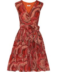 Issa Printed Cotton And Silk-Blend Dress - Lyst