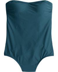 J.Crew Bandeau One-Piece Swimsuit - Lyst