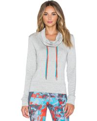 Pink Lotus - Ready To Go Shirred Back Hoodie - Lyst