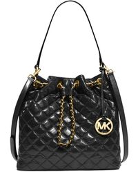 Michael Kors Michael Frankie Quilted Large Convertible Shoulder Bag black - Lyst