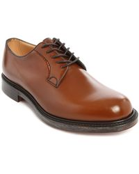Church's Shannon Patent Cognac Leather Derby Shoes - Lyst