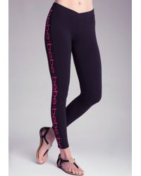 Bebe Logo Leggings - Lyst